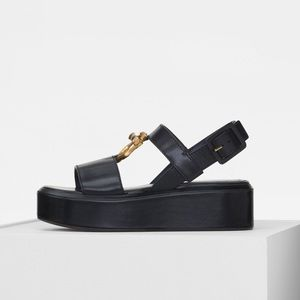 ISO ISO ISO Celine Platform Sandals with Jewel